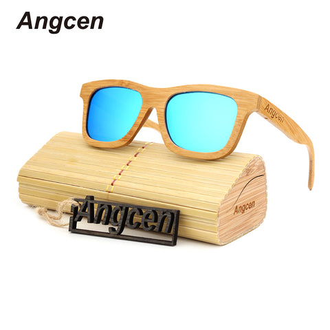 Angcen Polarized Wooden Sunglasses