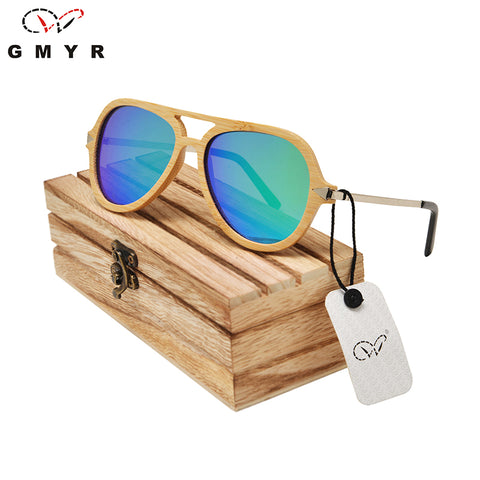 Aviator Bamboo wood Sunglasses