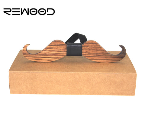 Rewood Party Beard Mustache Bow Tie