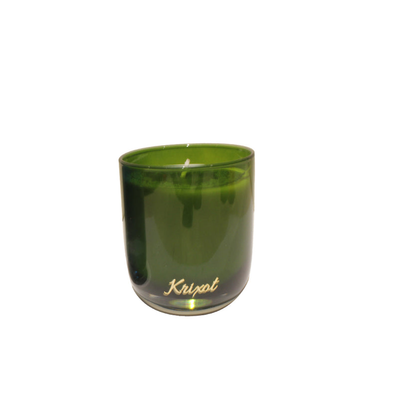 JAR SCENTED CANDLE GREEN  - BALSAM CEDAR AROMA
