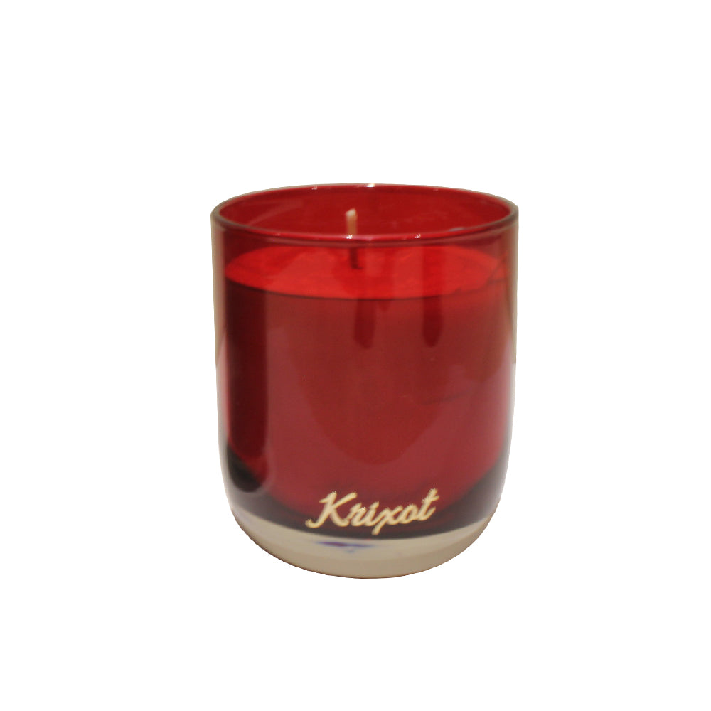 JAR SCENTED CANDLE RED - ROSE AND PEONY AROMA