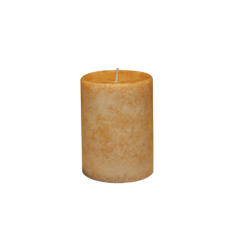 ORANGE SCENTED PILLAR CANDLE  - VANILLA MEDAGASCAR AROMA - 3 INCHES