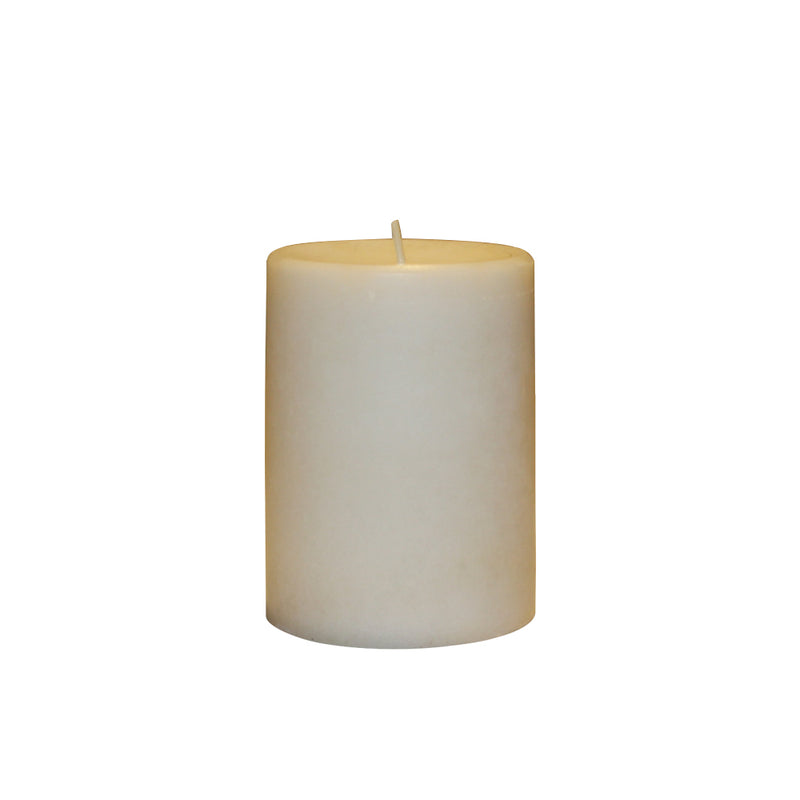WHITE SCENTED PILLAR CANDLE -WHITE GARDENIA  AROMA - 3 INCHES