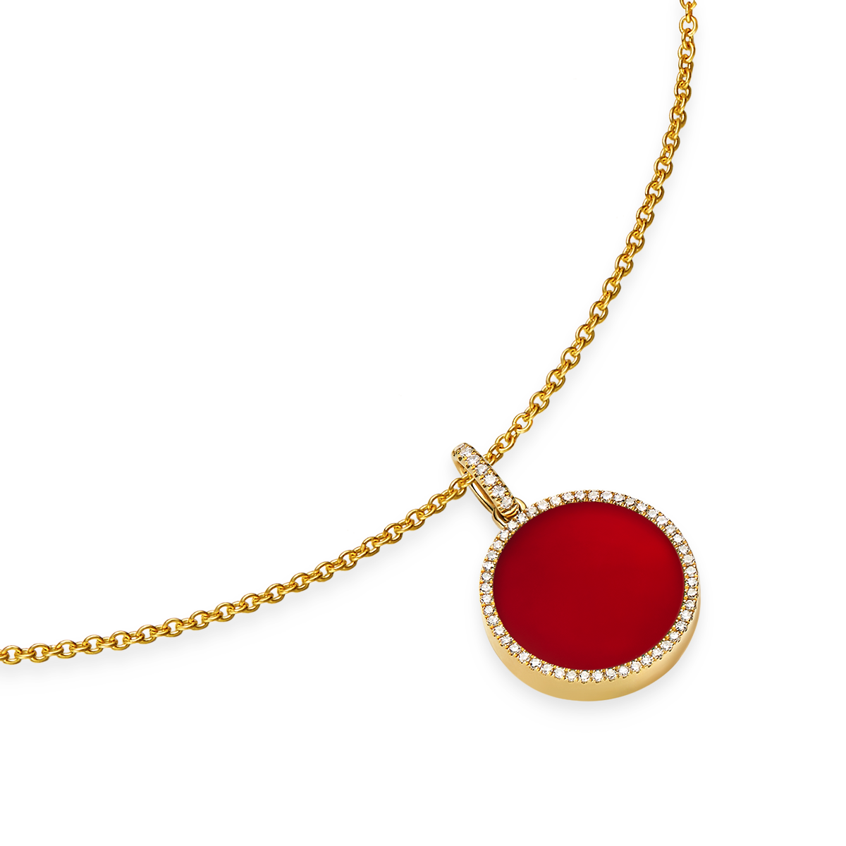 index pendant of images carnelian
