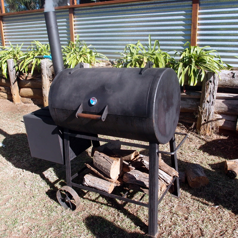 Authentic American BBQ using offset smokers