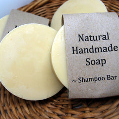 Using a shampoo soap bar