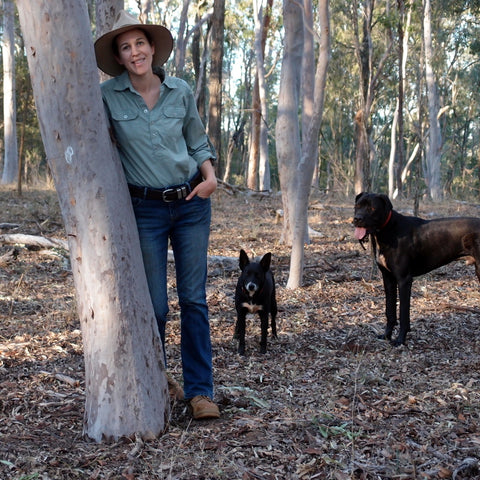 Liz from Eight Acres with dogs