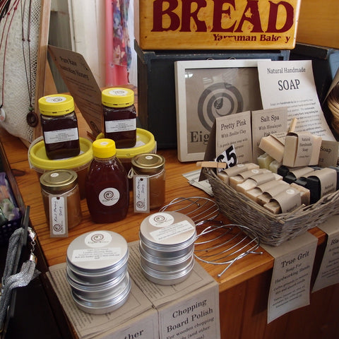 Sassy Mama Nanango stocks Eight Acres Natural Handmade Soaps and Raw Honey