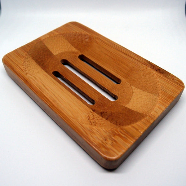 Bamboo soap dish - keep your handmade natural soap for longer