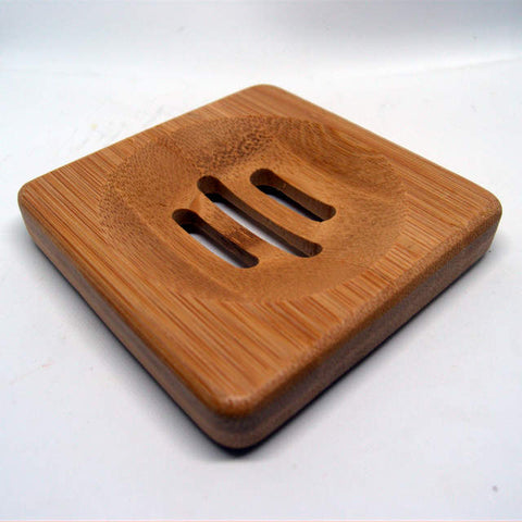Square Bamboo soap dish - keep your handmade natural soap for longer