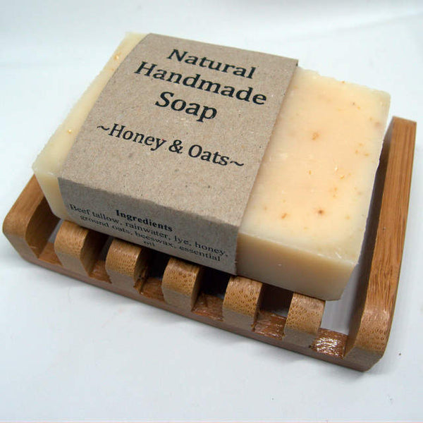 Large Bamboo soap dish - keep your handmade natural soap for longer