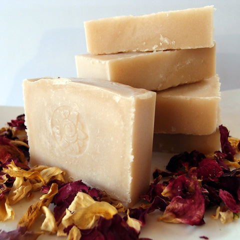 Pink Clay Natural Soap - made with zeolite and tallow by Eight Acres
