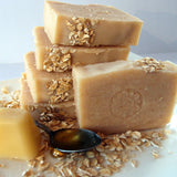 Honey and Oats Natural Soap - made with honey, oats and tallow, by Eight Acres