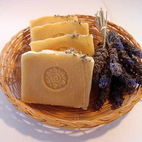 Goat's Milk Natural Soap - made with tallow and lavender