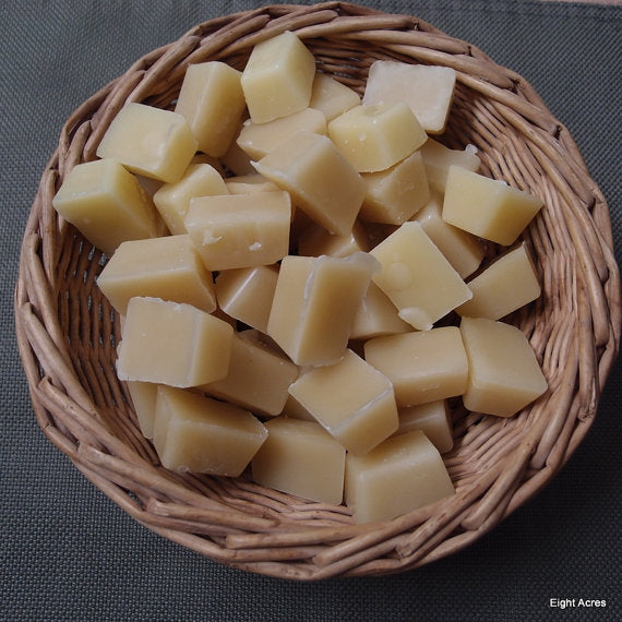 Beeswax for making DYI beauty, crafts and candles, by Eight Acres