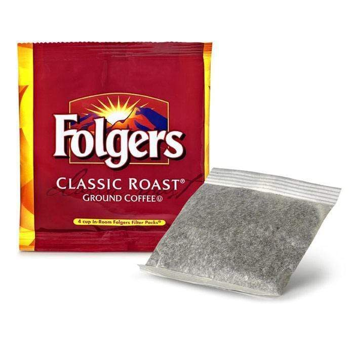 In Room Service Folgers Coffee - Regular - 200 Filter Packs - 4 Cup .6 oz.