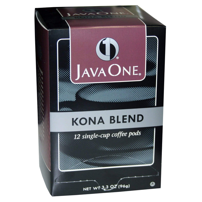 Java One Coffee Pods - Kona Blend  A Case of 6 Boxes - 12 Count Pods - 72 Pods
