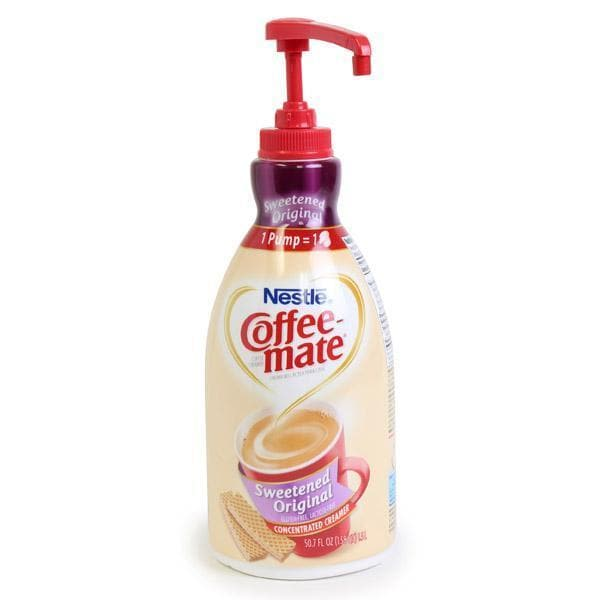 Coffee-mate Liquid Creamer - Sweetened Original - 1.5 Liter Pump Bottle