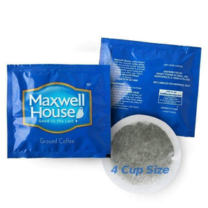 Maxwell House Hotel Filter Pack Coffee - In Room 4 Cup Size (0.7oz) - Pack of 100