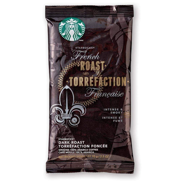 Starbucks Coffee - French Roast - 2.5 oz Pillow Pack - 18 Count Box