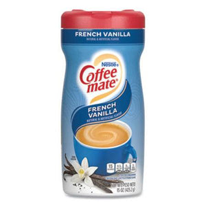Coffee-mate Powdered Creamer - French Vanilla - 24 Canisters - 15 oz each
