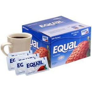 Equal Sweetener Packets - NutraSweet Sugar Substitute - Box of 2,000