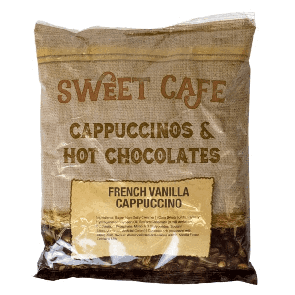 Sweet Cafe Cappuccino - French Vanilla - 6 Bags Per Case - 2 lb. Bag