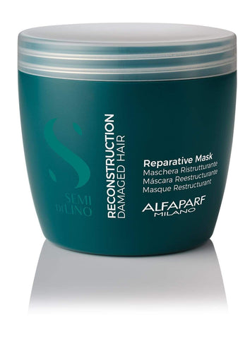 AlfaParf Semi Di Lino Reconstruction Reparative Mask (For Damaged Hair) 200ml-500ml best shampoo and conditioner for frizzy