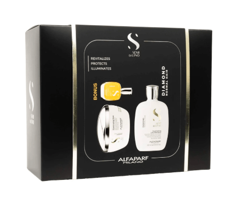 Alfaparf Semi Di Lino Diamond Mask Luxury Trio Pack best shampoo and conditioner for frizzy