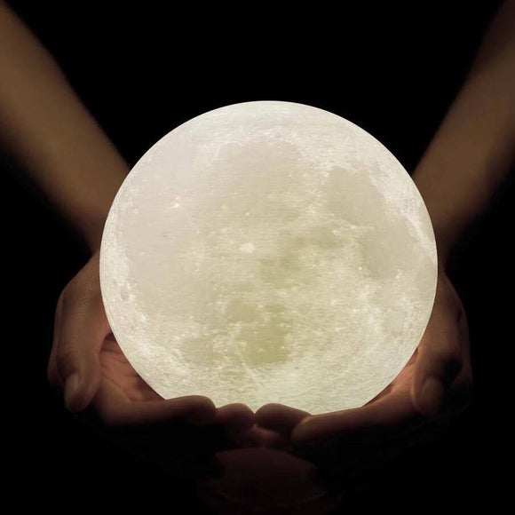 Enchanting 3D moon lamp. 3D print night lighting lamps are becoming increasingly popular when it comes to decorating your child's bedroom. When times come for your kids to go to bed, there are times they tend to sleep more and more into the night, and there we do get good night time rest.
