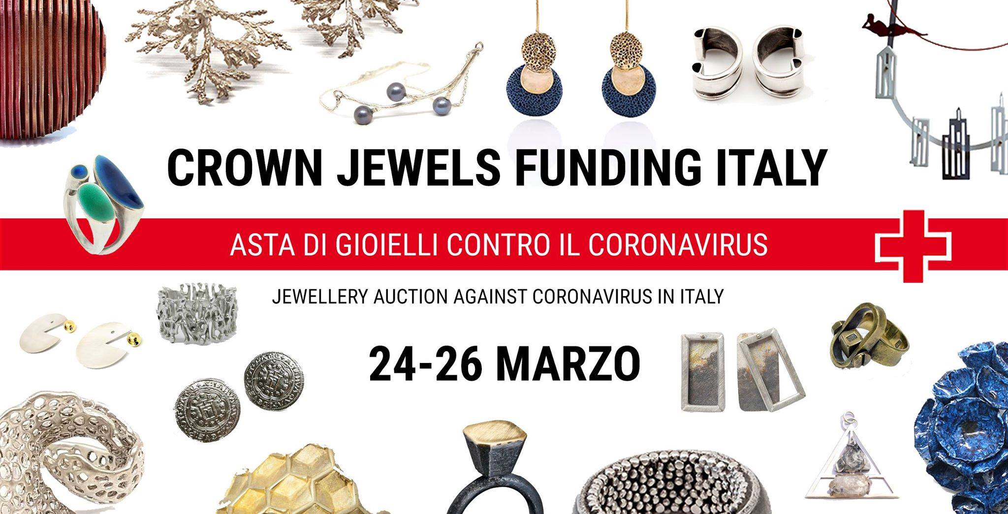 V DESIGN LAB Jewellery supporting the Italian Red Cross during Covid19 emergency