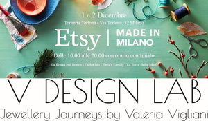 V DESIGN LAB Jewellery will be again at Etsy Made in Italy this Christmas