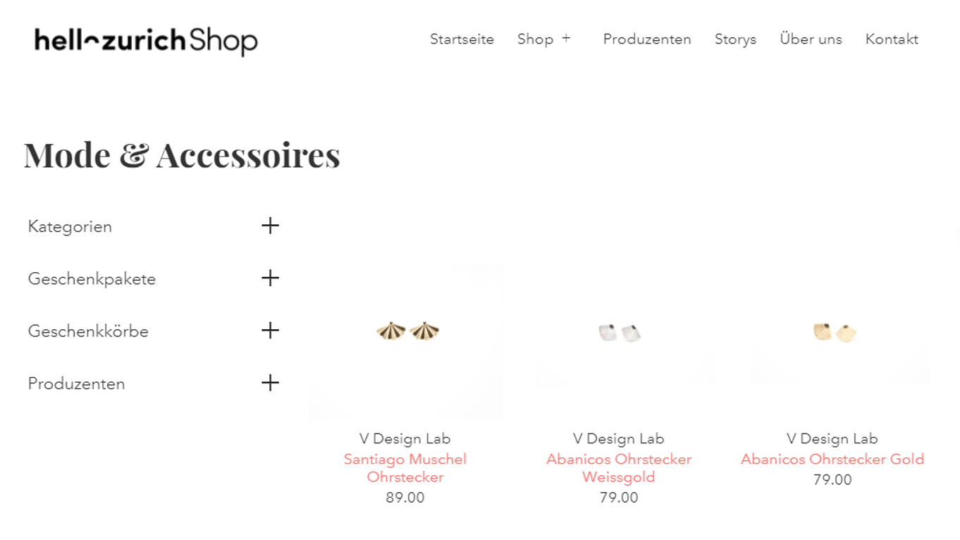 V DESIGN LAB Jewellery now selling on HELLO Zurich Online Shop