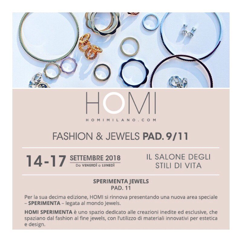 V DESIGN LAB Jewellery at Homi Sperimenta 14-17 September 2018