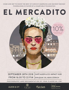 V DESIGN LAB at El Mercadito Design Market in Zurich on Friday 28th September