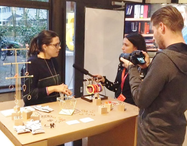 V DESIGN LAB being interviewed at the Dutch Design Week 2017