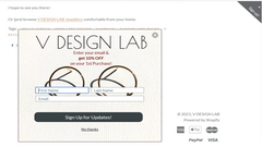 Subscription pop up to V DESIGN LAB Jewellery Newsletter