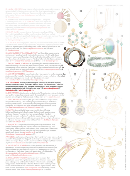 FLOWER POWER Pendants by V DESIGN LAB Jewellery featured in Vanity Fair UK Summer Issue