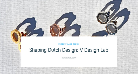 V DESIGN LAB Jewellery featured on Shapeways Online Magazine