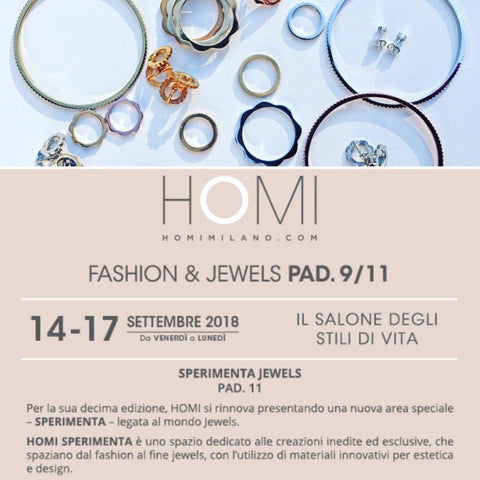 V DESIGN LAB Jewellery at Homi Sperimenta Lifestyle Fair - September 2018 Milan