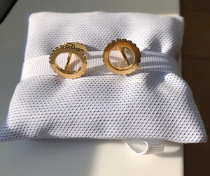 For Her & Him - INGRANAGGI Cufflinks + Stud Earrings