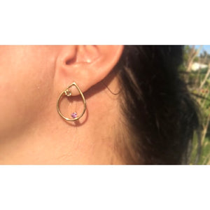 """A drop in the Ocean"" Earrings with Zirkonia"