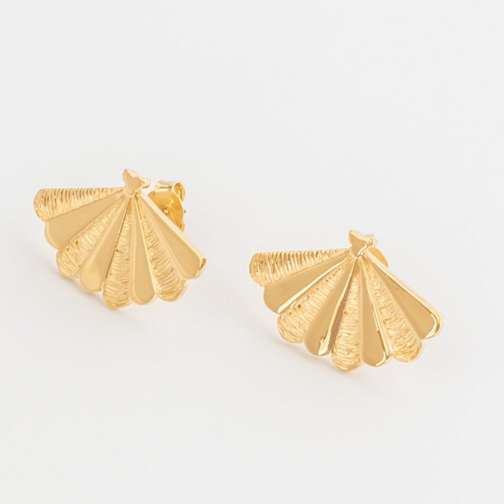 SANTIAGO Shell Big Earrings