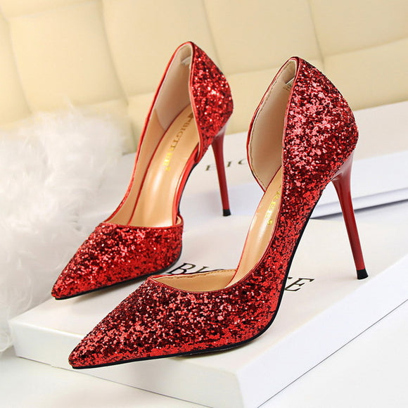 Bling Bling  Women  Glitter High Heel Shoes