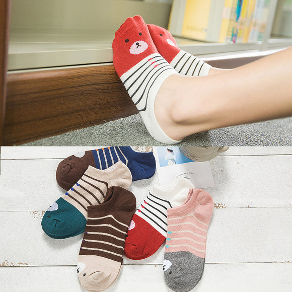 Warm Comfortable Cotton Girl Women's Socks Ankle