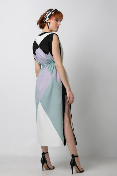 Signature Colorblocked Caftan Dress