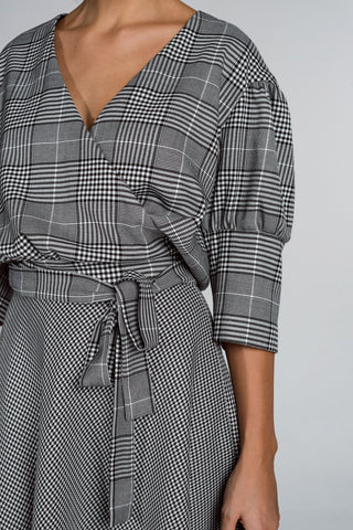 The Bouncy Houndstooth Skirt
