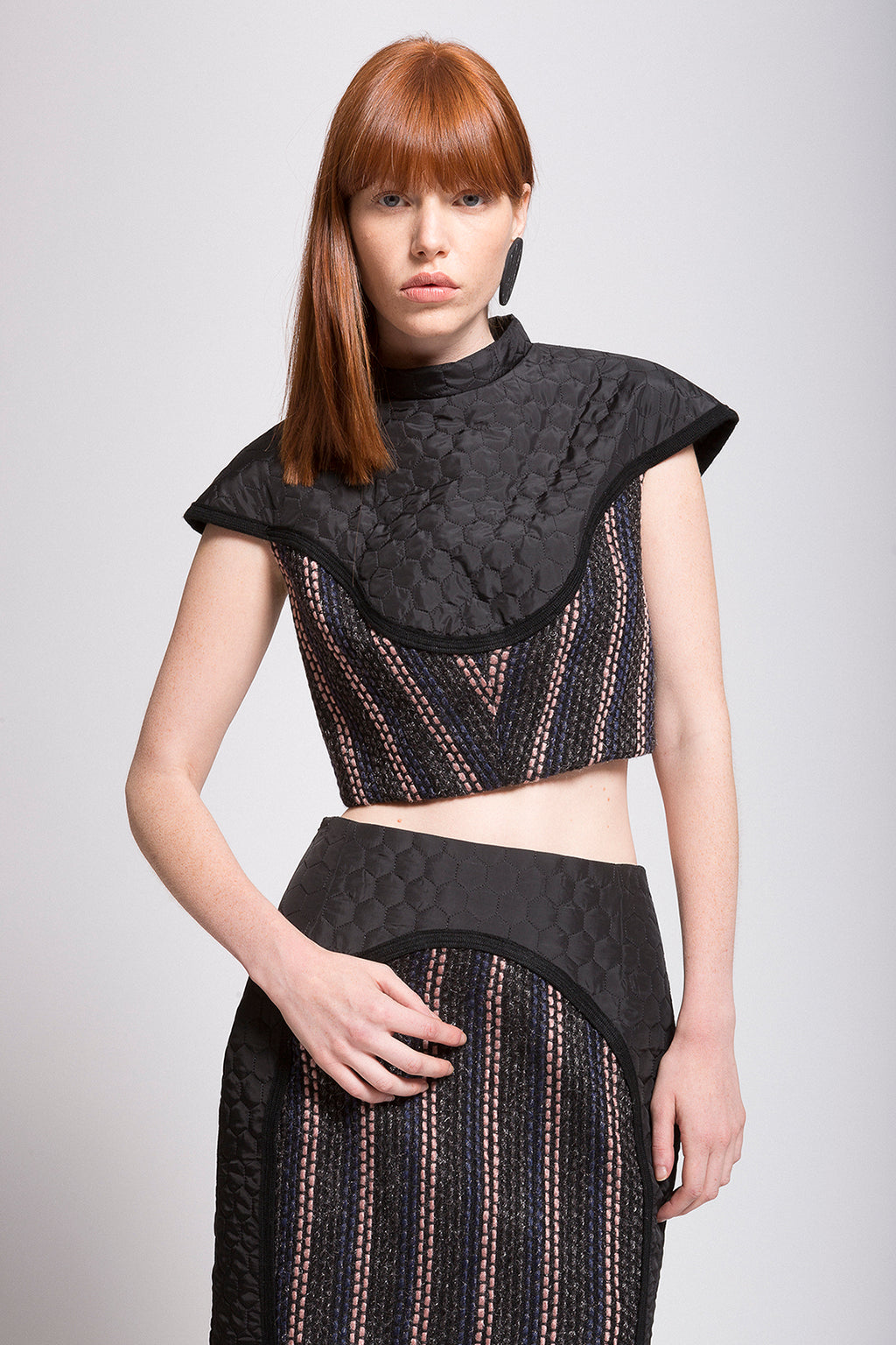 "Quilted | Boucle ""Armor"" Cropped Top"