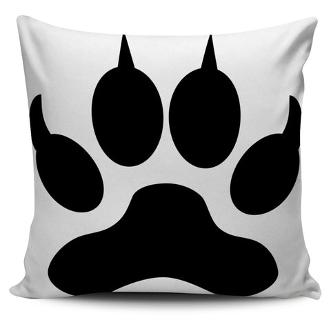 Dog Paw Art Throw Pillow Covers