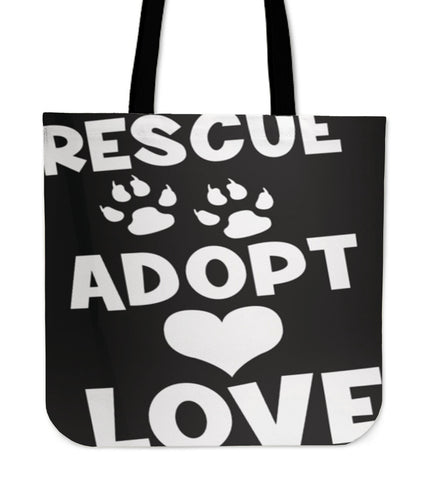 Rescue Dog Art Premium Tote Bag